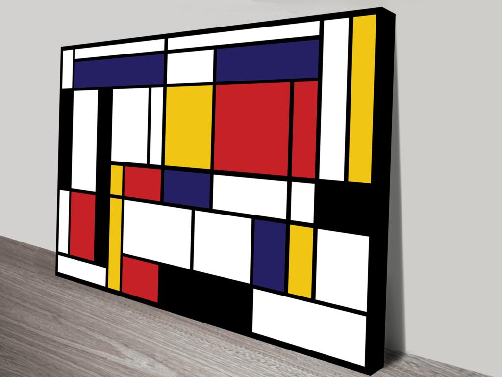 Mondrian Tableau I By Piet Mondrian Wall Art in 2020