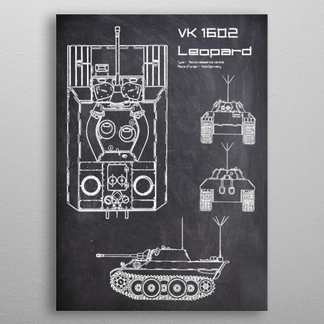 VK 1602 Leopard by FARKI15 DESIGN | metal posters - Displate | Displate thumbnail
