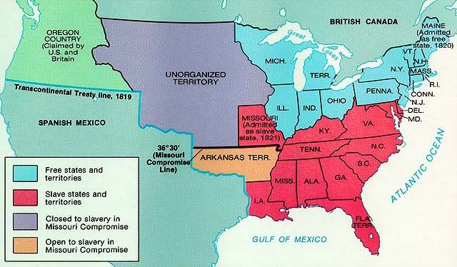 The Missouri Crisis Occurred When Missouri Applied For - Missouri compromise interactive map
