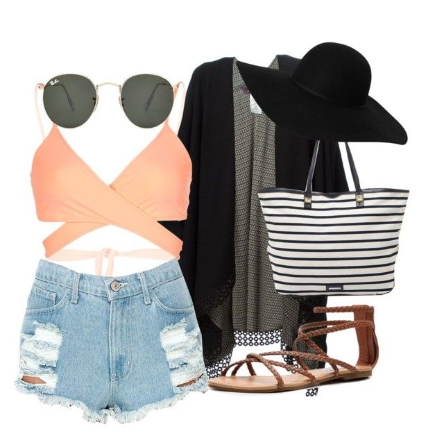 """Beach outfit"" by hannahpayne000 on Polyvore"