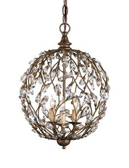 Currey Company Currey In A Hurry Crystal Bud Sphere Mini 13 Wide Chandelier 9652 Orb Chandelier Globe Chandelier Mini Chandelier