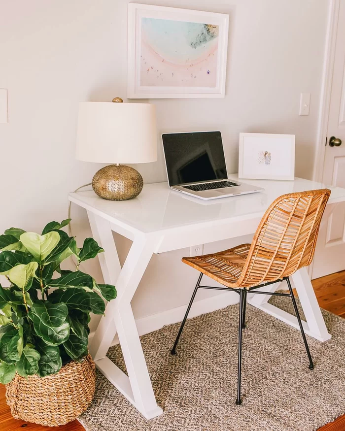 Montclair Glass Desk In 2020 Cozy Home Office Glass Desk Decor
