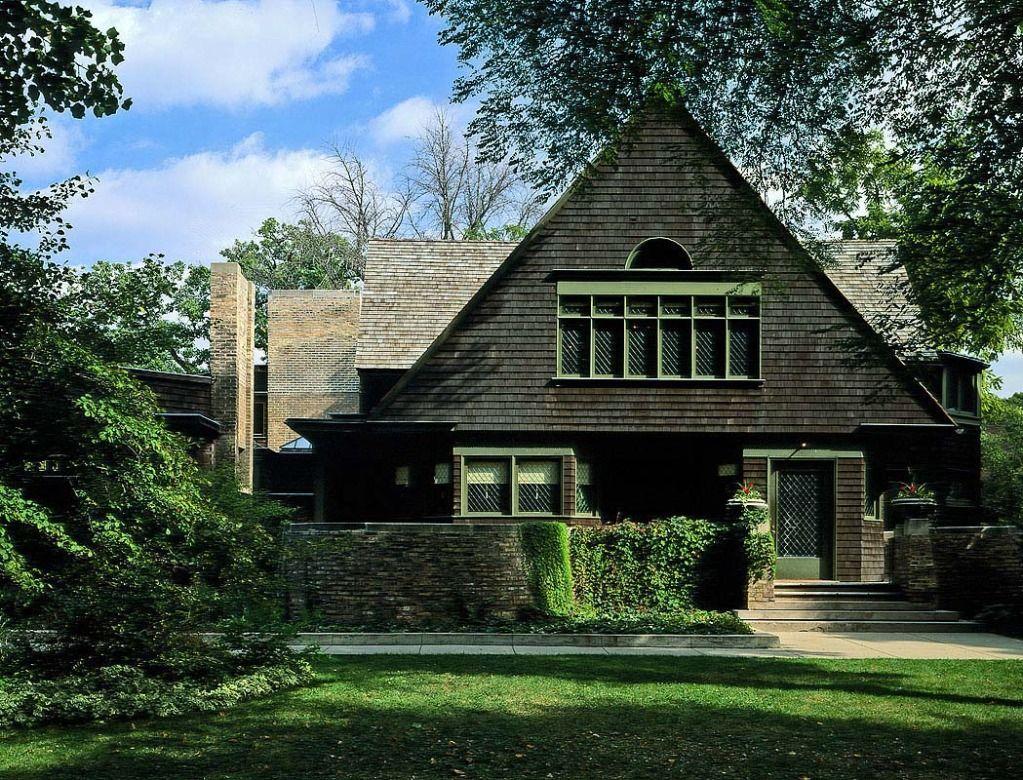 frank lloyd wright home and studio in oak park illinois usa