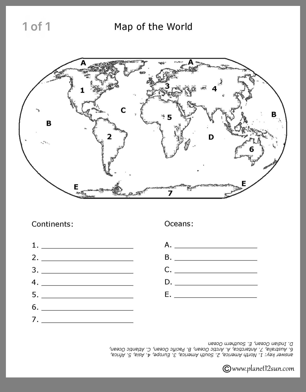 Continents And Oceans Printable Worksheets In 2020 Continents And Oceans Social Studies Worksheets Geography Worksheets