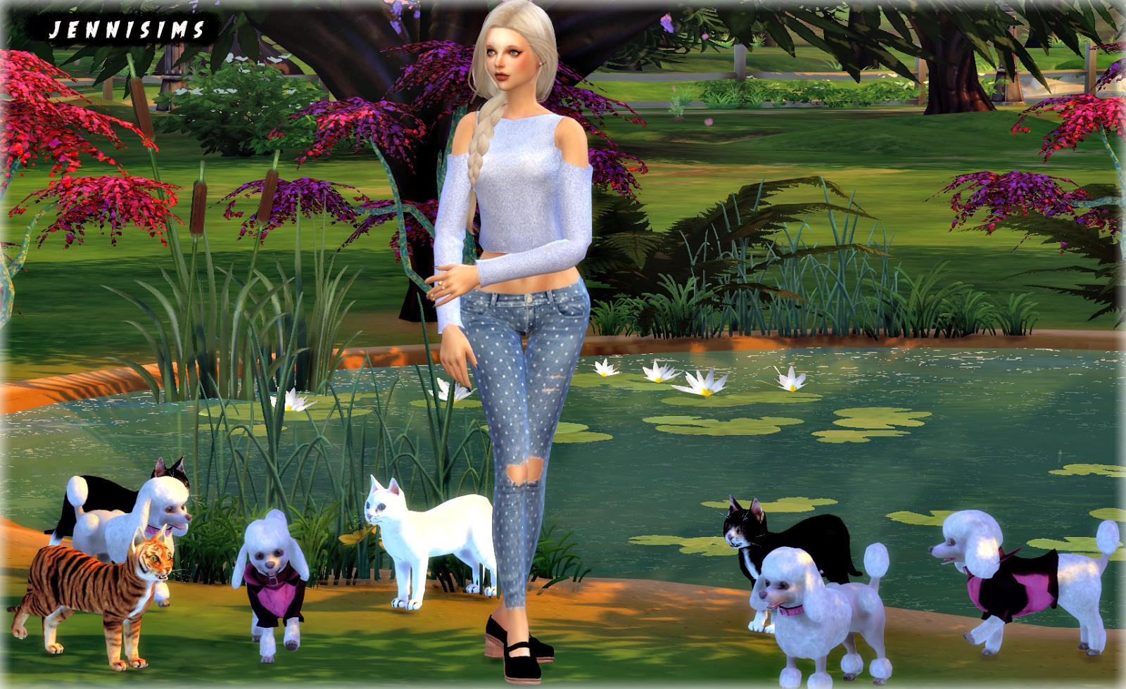 Downloads Sims 4 Pets Sets Decoration Elephant Cats Poodles Sims 4 Pets Sims 4 Sims