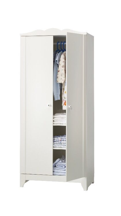 Superbe IKEA HENSVIK Wardrobe Deep Enough To Hold Standard Sized Adult Hangers.