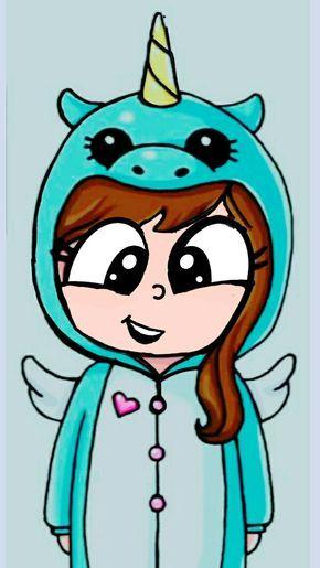 Nina Con Pijama De Unicornio Dibujos Dibujos Kawaii Dibujos