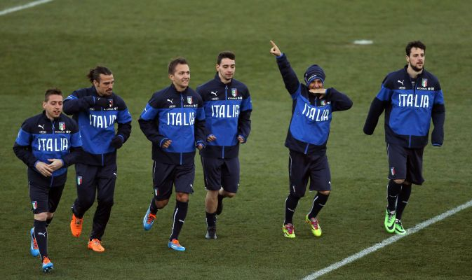 La nazionale italiana in allenamento a Madrid