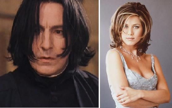 Is it just me or is Snape totally rocking The Rachel? - Imgur