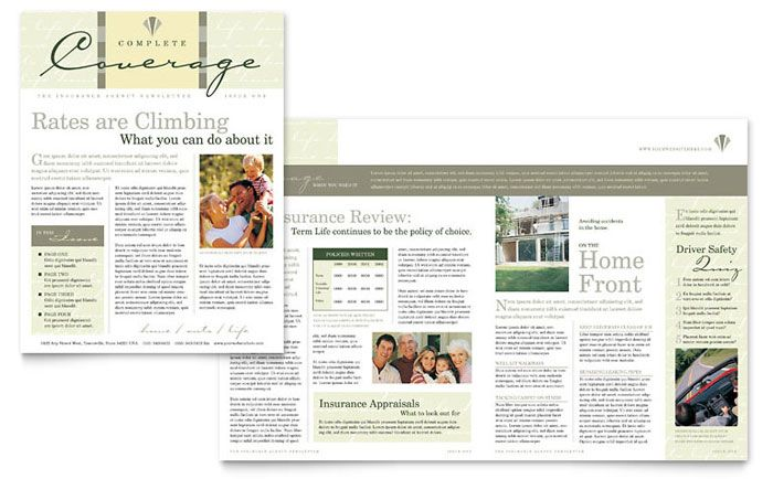 Click to download a full-size preview PDF Newsletter templates - sample company newsletter
