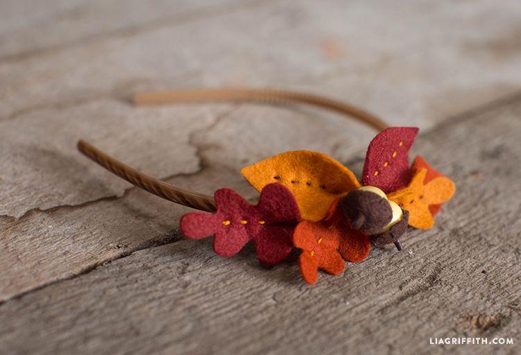 Felt Leaf Headband - Lia Griffith