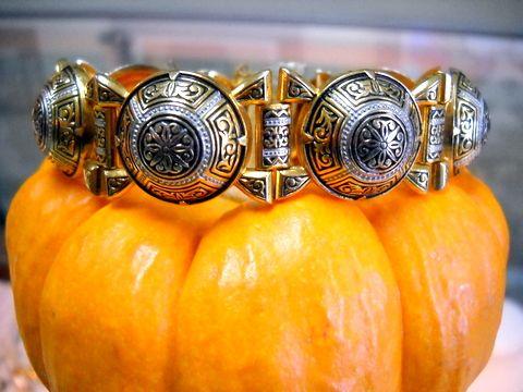 vintage damascene bracelet handcrafted from Toledo Spain.  $79