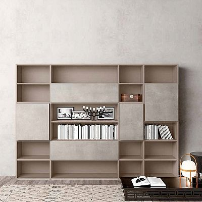 Luxury bookcase Wall Unit Book 2 Minimalist design elegant and