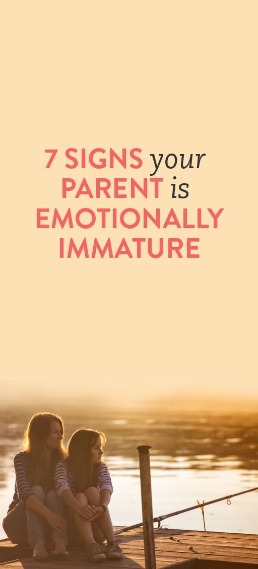Signs of emotional immaturity in adults
