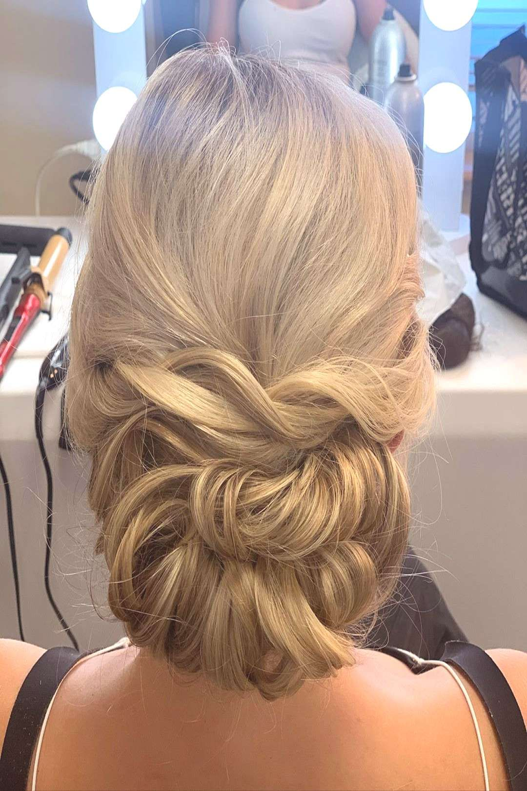 Hair for our styled shoot today! * * * #mnbride #weddinginspo #we