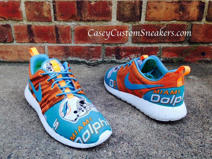 Miami Dolphins custom Nike Roshe sneakers