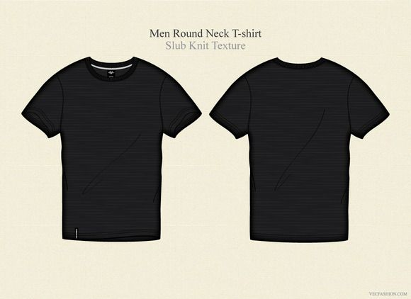 Check out Men Black Round Neck T-shirt by VecFashion on Creative - t shirt template