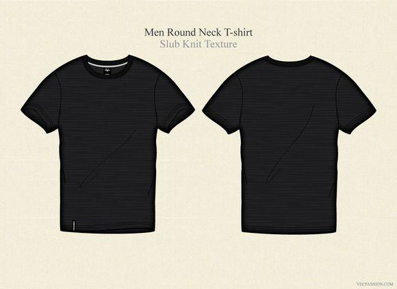 Download Men Black Round Neck T Shirt Shirts Shirt Template Shirt Illustration