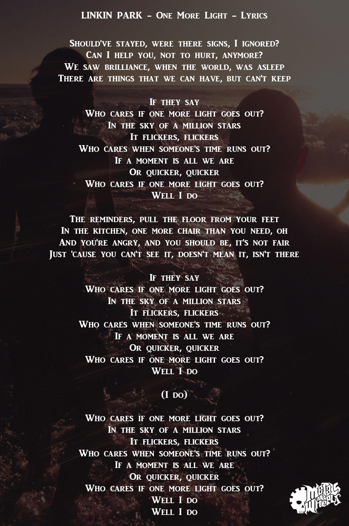 Linkin Park One More Light Lyrics Metals And Wheels