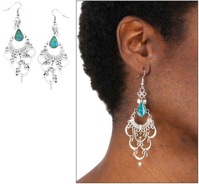 Spanish Turquoise Chandelier Earrings
