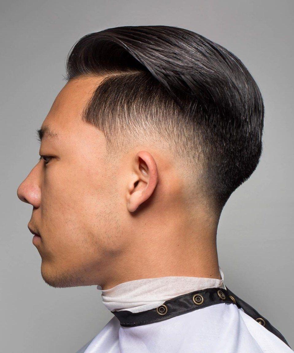 Asian Faded Undercut Medium Hair Styles Short Hair
