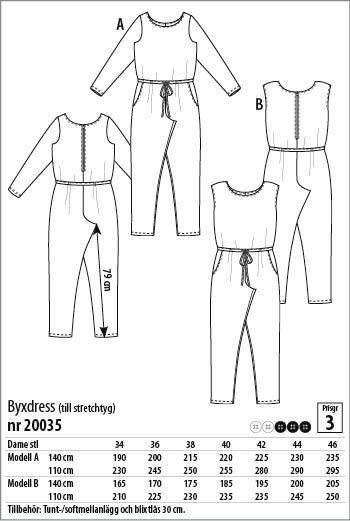 Byxdress - 20035 - Stoff & Stil