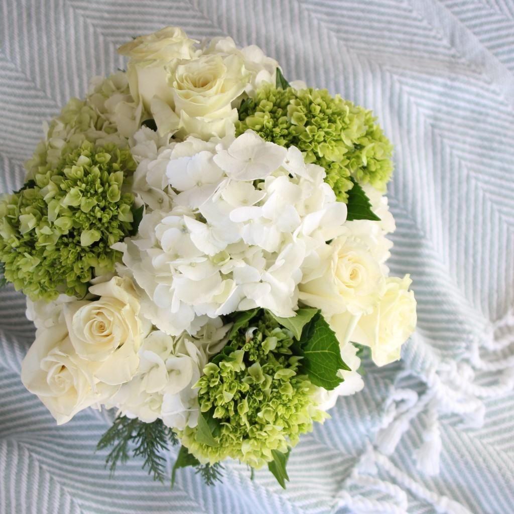 Girls Bathroom Makeover Flower Arrangements And Hydrangea