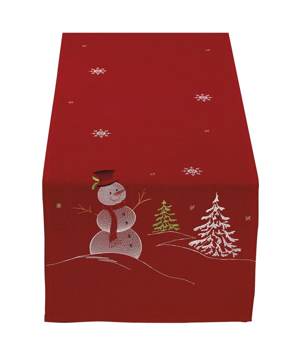 Design Imports Embroidered Snowman Table Runner Reviews Table Linens Dining Macy S In 2020 Embroidered Table Runner Holiday Table Runner Christmas Table Runner