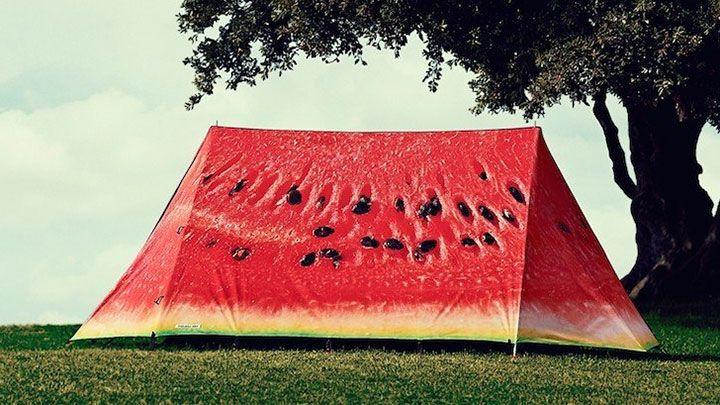 Spacious waterproof breathable easy to set watermelon tent for C& deliciously make fellow c&ers mouth salivate with desire to take a rest inside. : fruit tent - memphite.com