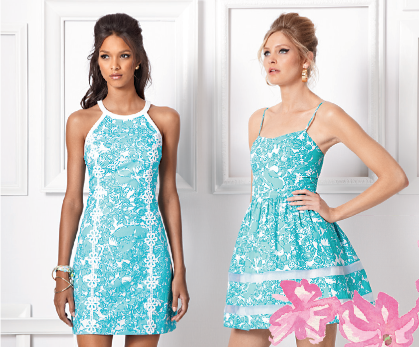 898cbf2bc1674e Pearl Halter Shift Dress, Ollie Fit & Flare Dress, Lilly Pulitzer Spring  '14 #buymelilly