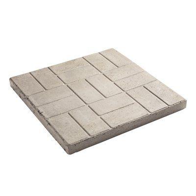 Attirant Oldcastle 24 In L X 24 In W Gray Square Patio Stone   Lowes Canada