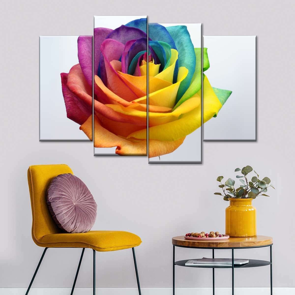 Floral Roses Flowers Love MULTI CANVAS WALL ART Picture Print VA