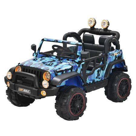 2c07fd909acc Buy Uenjoy Kids Power Wheels Electric Ride on Cars with Remote Control 2  Speed 12V 8 Colors (Camouflage blue) at Walmart.com