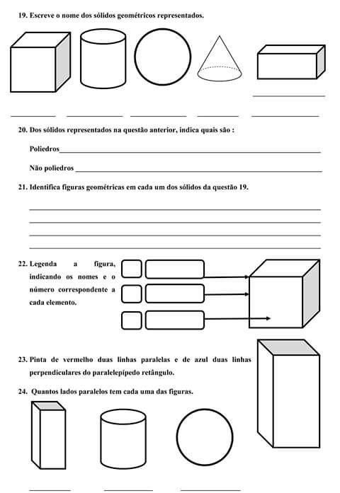 Solido Atividades De Geometria Atividades De Matematica
