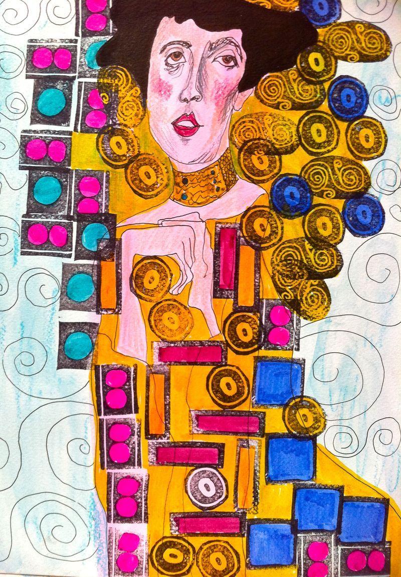 under the influence of Klimt online workshop #art #klimt #online art workshop