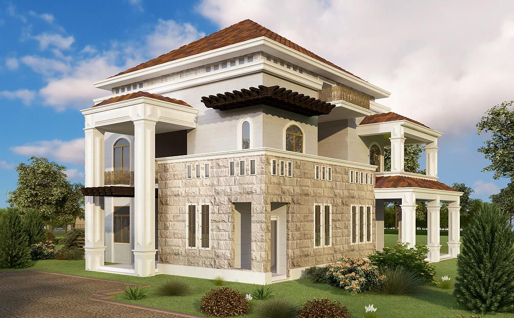 Villa Design Located In South Lebanon Designed By Architect Mohammad Nouredine Y GATE Engineering