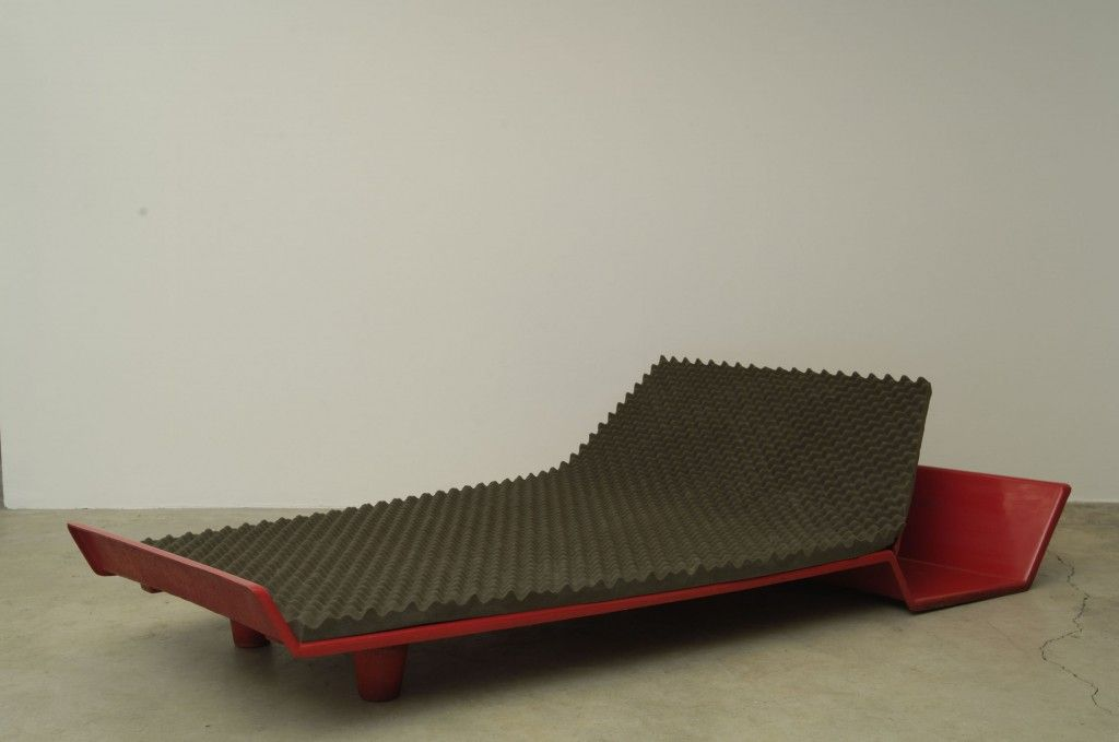 Metamorphic Trapezoidal Bed by Roger Tallon for JOUSSE ENTREPRISES