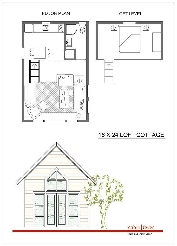 Small Cabin Design 16 X 24 Just Right For Two A Great Idea For A Small Cabin On The Mountain Small Cabin Designs House Plan With Loft Cabin Plans With Loft