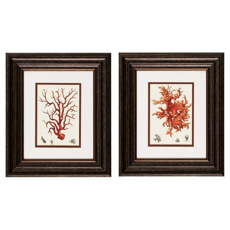 Set of two double-matted framed prints. Product: 2 Piece framed art ...