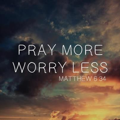 It does you no good to worry about things that are out of your control. Pray on it.