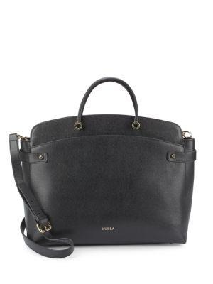 d2d3156aed28f FURLA Solid Leather Satchel.  furla  bags  shoulder bags  hand bags ...