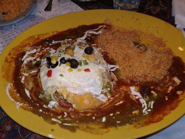 Sonora style enchiladas egg on top...