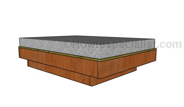 buy online 610c5 10c37 Full size floating bed plans | Bed Frame Plans | Floating ...