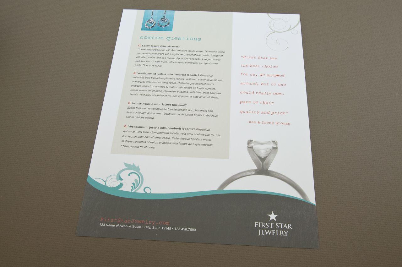 Jewelry Store Datasheet Template  Customizable Datasheets
