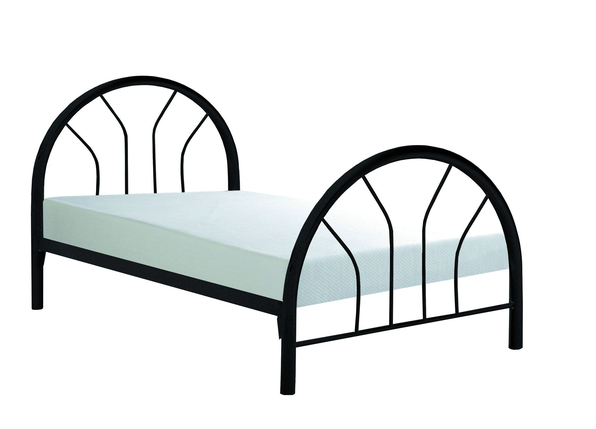 Black Metal Twin Bed Frame Only | Modern and Contemporary Furniture ...