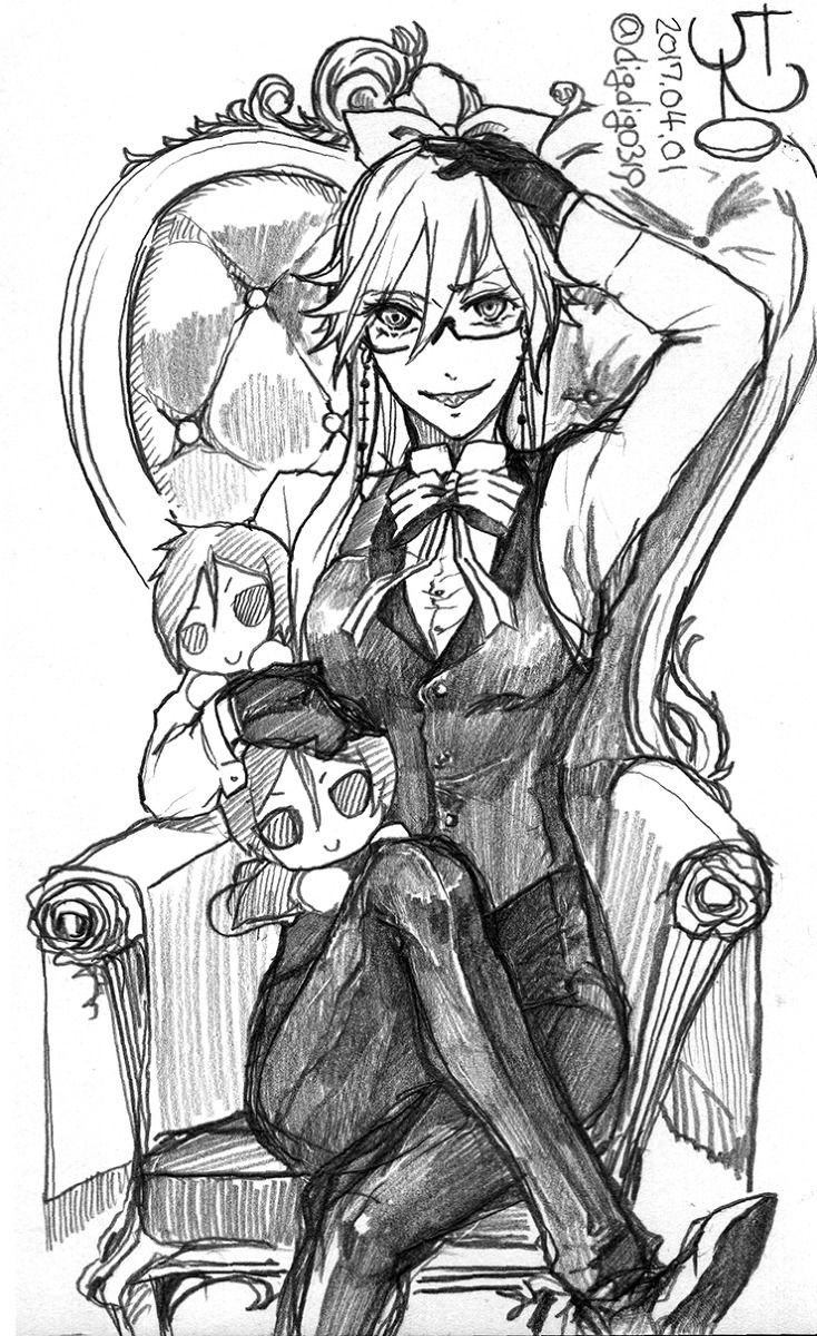 Pin On Black Butler Mostly Grell