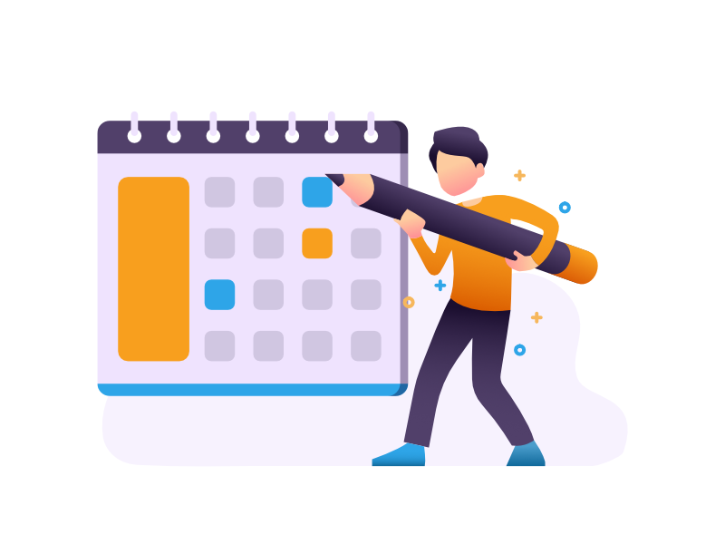 Plan And Schedule Your Activities Flat Illustration Illustration How To Plan