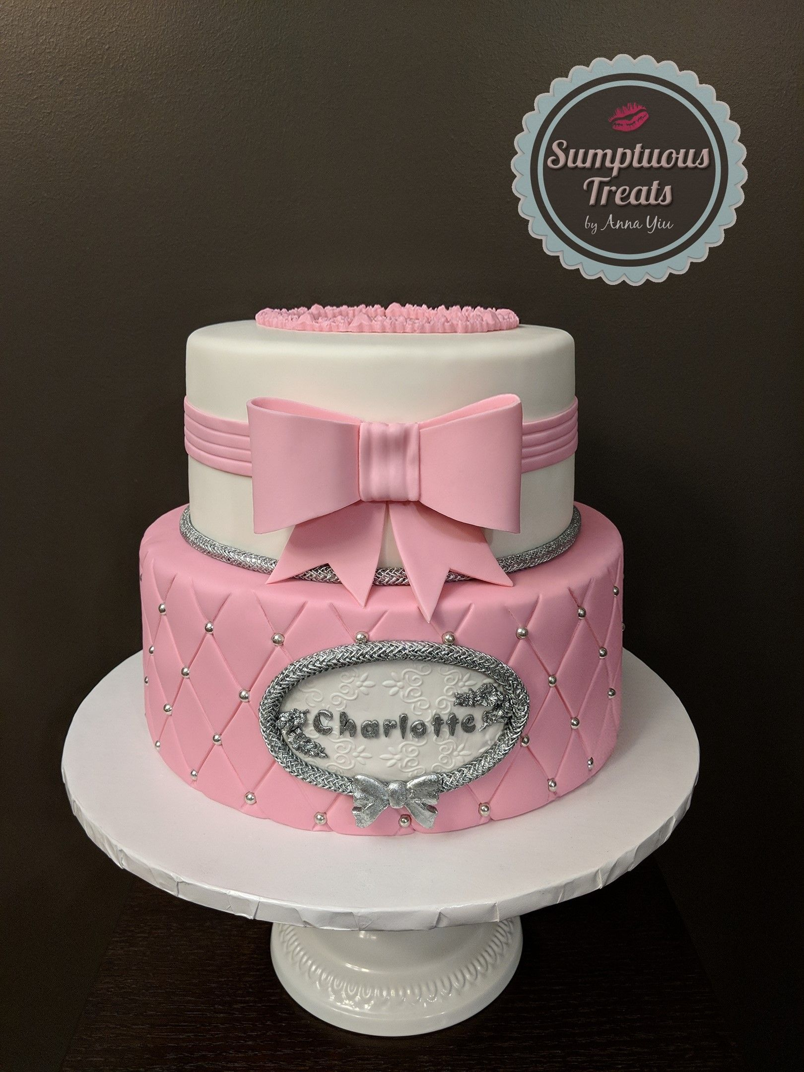 Pink Quilted Birthday Cake Custom Made To Order Cakes Edible Art Sumptuoustreats