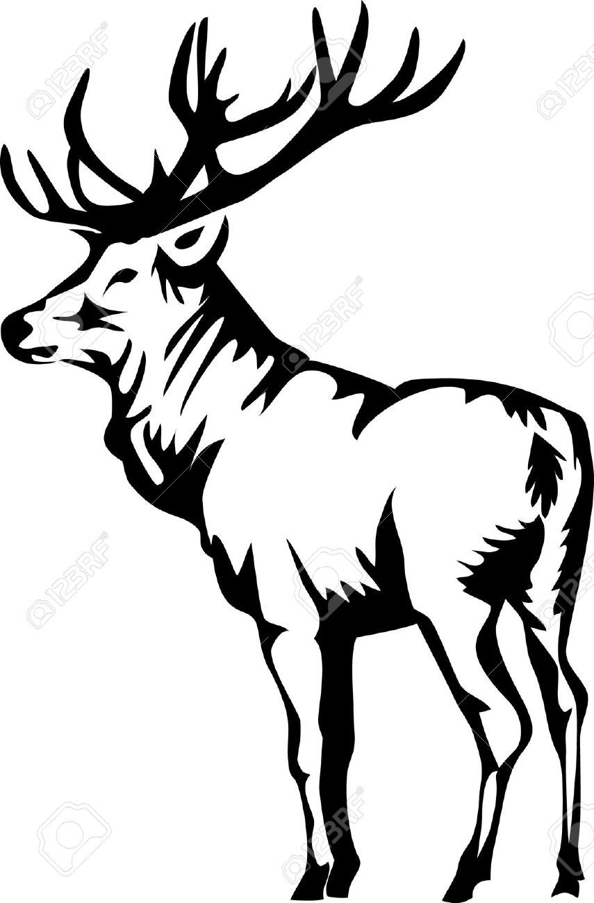 Stock Vector In 2019 Elk And Deer Logos Elk Illustration