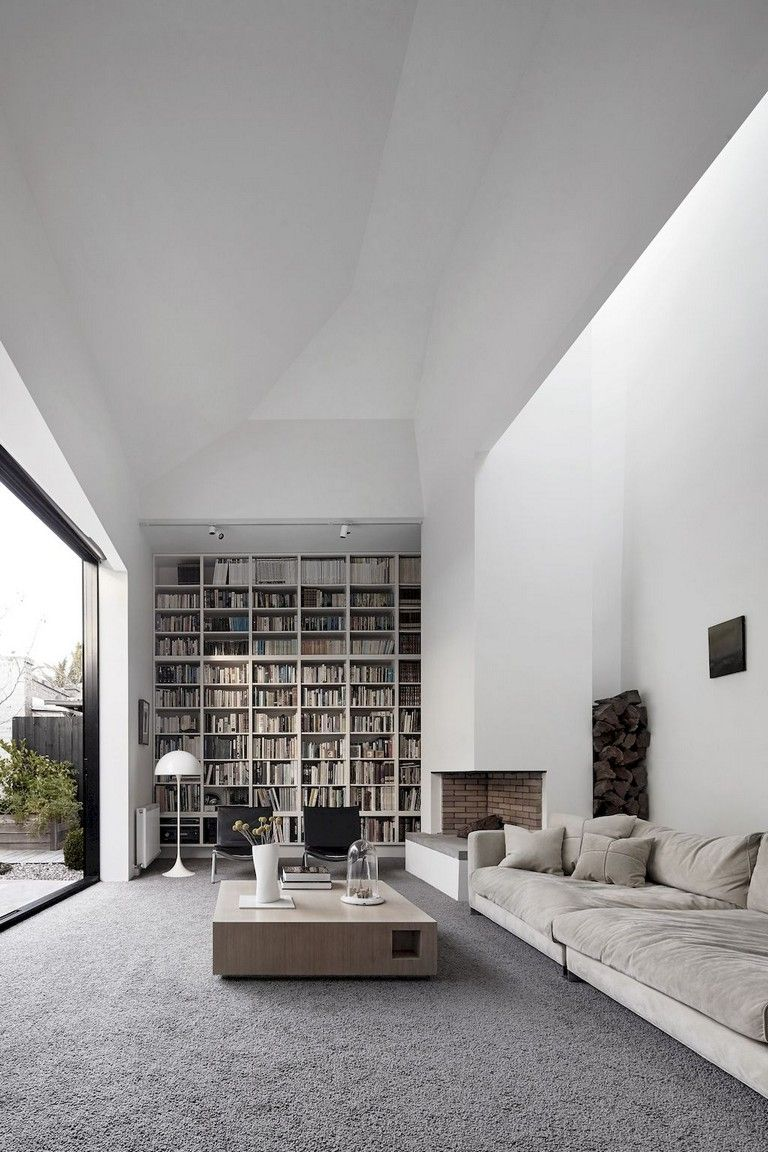 Contemporary Home Library Design: 45 Amazing Scandinavian Ideas For Your Home Library